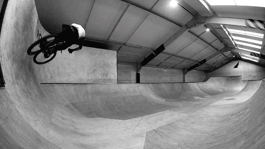 Rock City Skate Park Gopro Quarter Pipe Air Wood Mountain Bike MTB Blackandwhite Bowl Ramp Bmx  Skatepark Built Structure Skateboard Park Transportation Architecture Day Indoors  No People