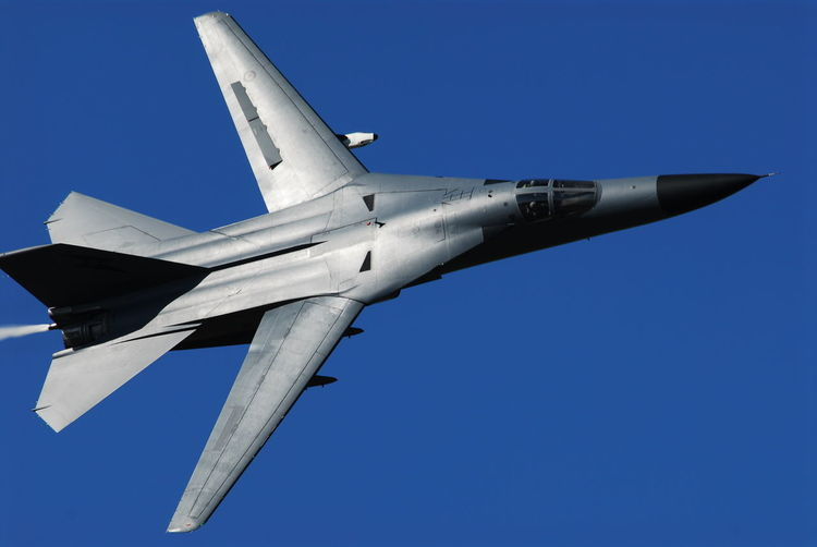 F-111 F111 RAAF Royal Australian Air Force Air Vehicle Airplane Blue Clear Sky Day Fighter Plane Flying Low Angle View Military Airplane No People Outdoors Sky Transportation
