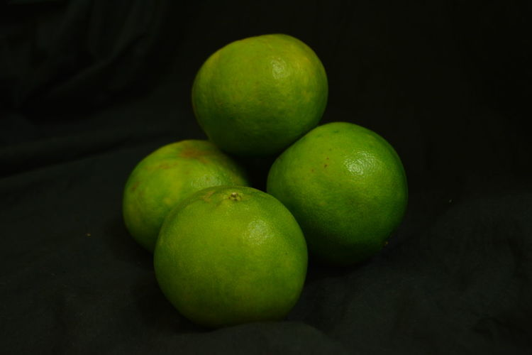 Black Background Citrus Fruit Close-up Day Food Food And Drink Freshness Fruit Green Color Healthy Eating No People Outdoors