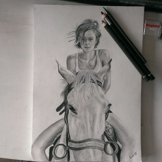 Drawing Finished Horsegirl  @nawden