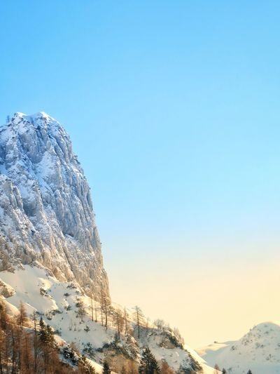 Mountain Snow Blue Nature Beauty In Nature Winter No People Sky Cold Temperature Clear Sky Day Outdoors Scenics