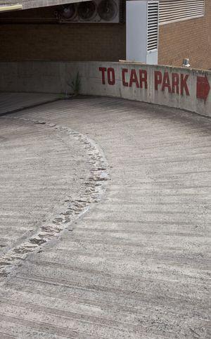 Arrow Lines Architecture Arrows Building Exterior Built Structure Carpark Carpark Signs Carparks Concrete Concrete Floor Concrete Wall Curved  Day No People Outdoors Text Texture Textured Concrete The Way Forward To Car Park