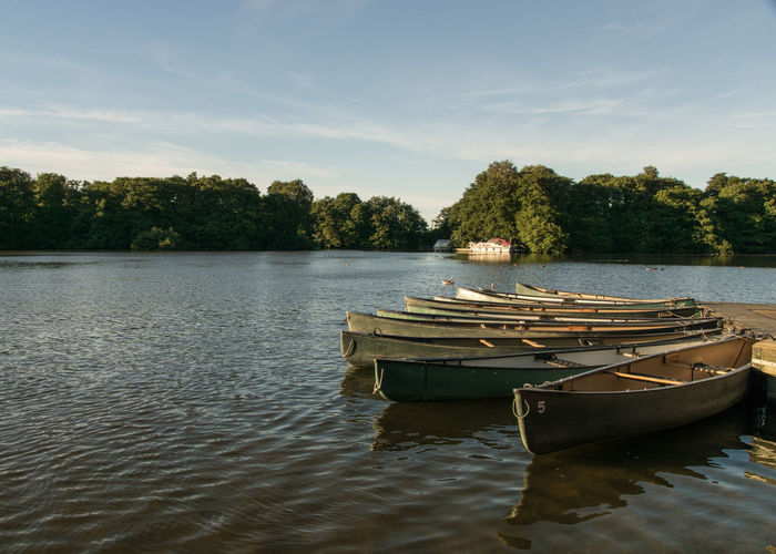 Norfolk Broads Salhouse Broad Serenity Beauty In Nature Day Floating On Water Kayak Lake Mode Of Transportation Moored Nature Nautical Vessel No People Non-urban Scene Outdoors Plant Rowboat Scenics - Nature Sky Tranquil Scene Tranquility Transportation Tree Water Waterfront