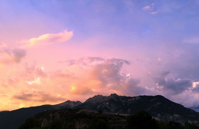 Beautiful sunset over the French Alps France Alps Beauty In Nature Cloud - Sky Dramatic Sky Dusk Environment IPhone Idyllic Iphonephotography Landscape Mountain Mountain Peak Mountain Range Nature Night No People Outdoors Romantic Sky Scenics - Nature Sky Sunset Tranquil Scene Tranquility Vars