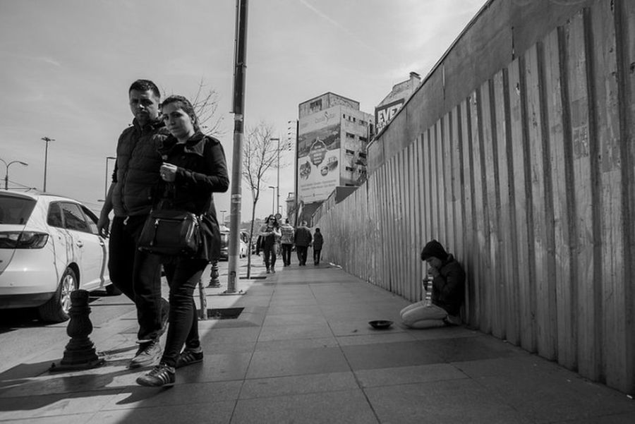 Streetphotography Photography Blackandwhite Street Monochrome Istanbul Turkey Work Child Civil Black And White Bnw Rest Think Arts Culture And Entertainment Police Force Adults Only Adult People Fashion City Outdoors Day
