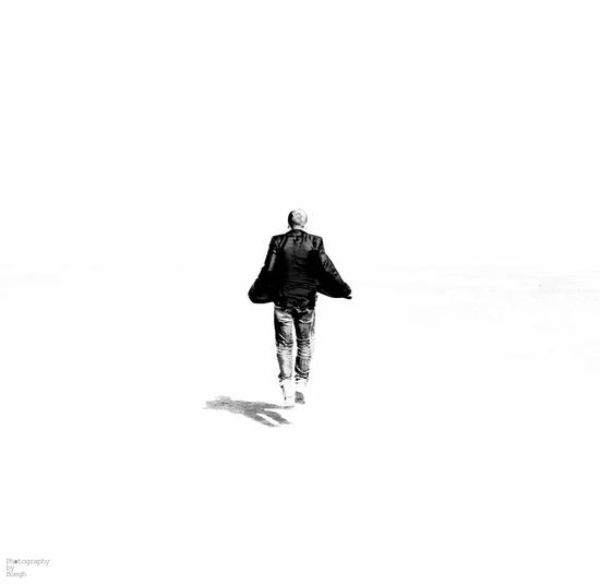 A walk in nothingness --- Nothingness White Black And White Hello World Life Man Hovering Shadow