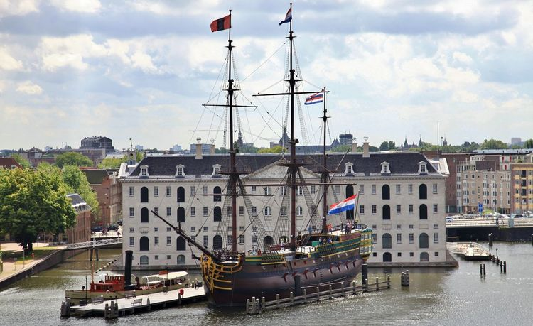 Amsterdam Maritime Museum Nautical Vessel Waterfront