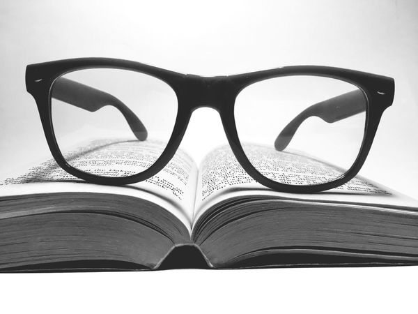 Blackandwhite Photography Black And White Monochrome Books Glasses Black & White Blackandwhite Black&white B&w Blackandwhitephotography EyeEm Bestsellers Opticians Glasses And Book