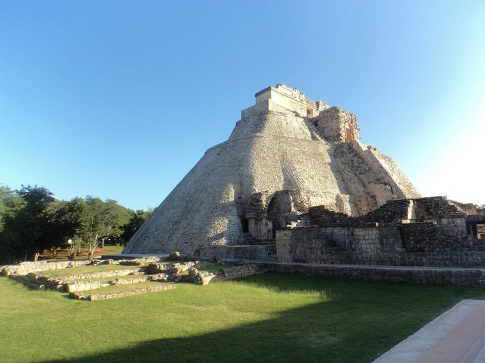 Architecture Clear Sky Enjoying Life Piramide Uxmal Mexico