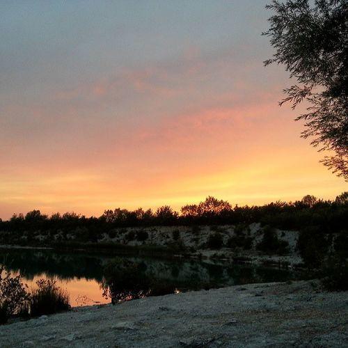 Blaue Lagune mit @melina_124 und Julia :) Sonnenuntergang Sommerabend