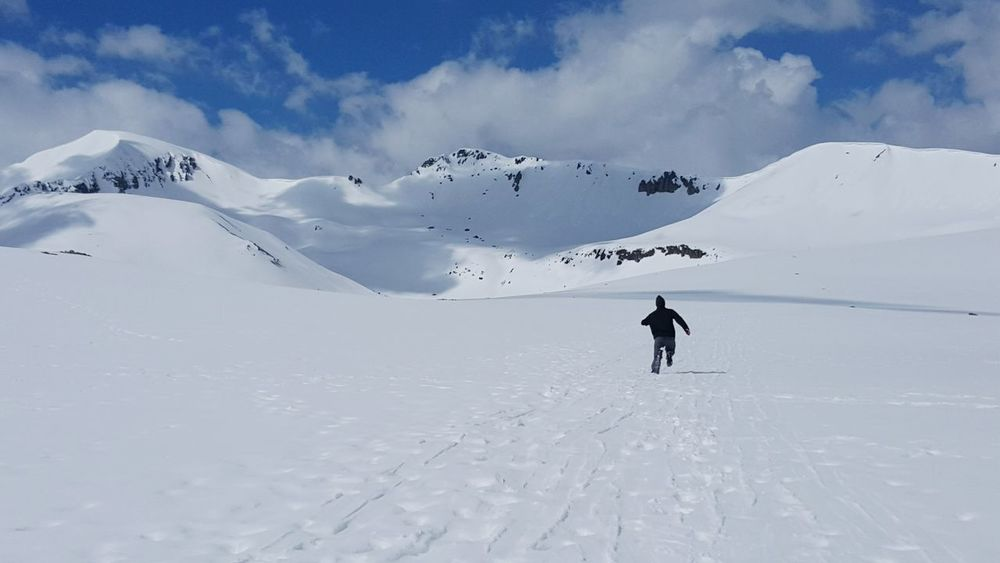 Spring Snow on Independence Pass , Colorado . Rocky Mountains Snow ❄ Spring May Alpine Landscape Mountain Peaks Hiking Freedom Spontaneous Running In The Clouds Daylight Blue Sky Cold Mountain Air Natural Light Jogging Active Lifestyle  Colorado Travel Adventure Travel Blue Wave Space For Copy