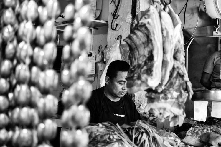 Red Meat vendor. StreetsofBaguio Bnw_greatshots Bnw_of_our_world Bnwphotography Baguio Bnwportrait Bnw_society Street Streetphotography Igersmanila Bnwphilippines Philippines Bnw Igersbnw Bnwmood Nikond3300 WhenInBaguio PhotowalkPH Igers Nikon 35mm Photowalkmanila Streetphotographyph Blackandwhite Bw TBT  Dailygrind Community Dailylife Locals Streetphoto_bw Street Photography Street Life Streetphilippines Streetphoto Bnw_friday_eyeemchallenge Bnw_captures Bnw_life Workshop Metal Industry Business Finance And Industry Mid Adult Work Tool Visual Creativity Focus On The Story The Street Photographer - 2018 EyeEm Awards The Portraitist - 2018 EyeEm Awards The Traveler - 2018 EyeEm Awards The Photojournalist - 2018 EyeEm Awards