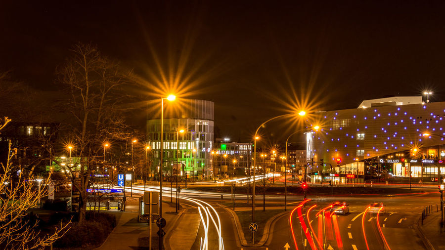 Longexposure EyeEm Best Shots Night Lights Nightlife Cityscape Cityscapes Cityscape Photography Ruhrgebiet Ruhrpott Ruhrpottromantik Nikon D7200 Architecture Building Exterior Built Structure City City Life Cityscape Illuminated Light Trail Motion Night No People Outdoors Sky Speed Street Light Transportation Road High Street The Graphic City Mobility In Mega Cities Stories From The City The Street Photographer - 2018 EyeEm Awards The Great Outdoors - 2018 EyeEm Awards The Architect - 2018 EyeEm Awards HUAWEI Photo Award: After Dark Capture Tomorrow Moments Of Happiness