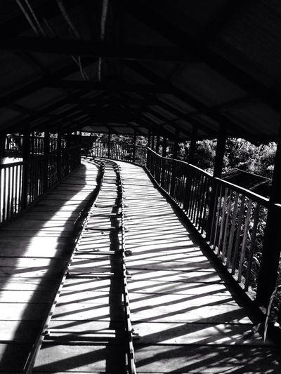 Black & White Bridge Farm Light And Shadow