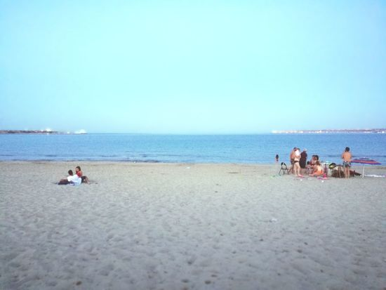 Sicily Beach Sea Sand Sky Horizon Over Water People Blue