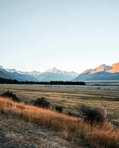 New Zealand NZ Road Roadtrip Christchurch Sunset Sunrise Mountains Mount Cook Mount Cook National Park Nature