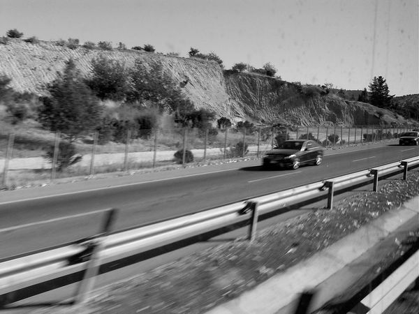 carretera Barroco Austral Blackandwhite Photography Car Clear Sky Land Vehicle Mode Of Transport Retro Styled Road Sky Street Transportation