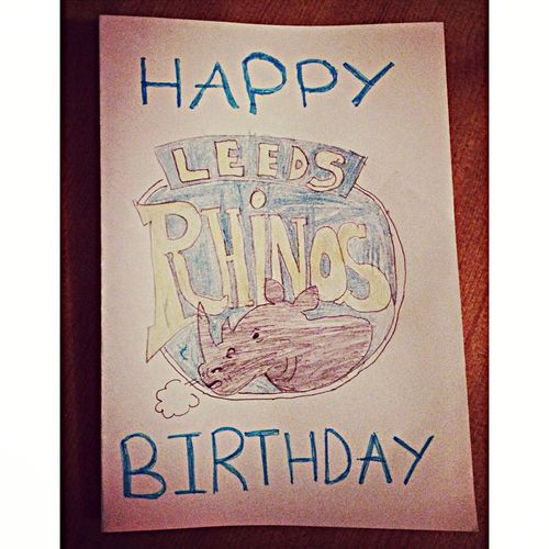 My daughter made this card for her uncles birthday, love it ? Leeds Rhinos Leeds Yorkshire Rugby