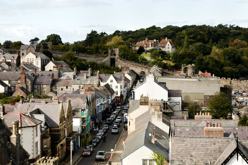 Conwy Conwy Wales City Cityscape TOWNSCAPE Uk