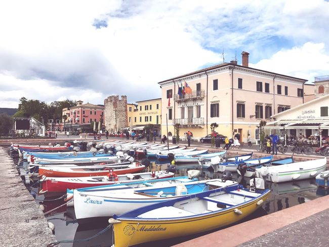 Cloud - Sky Haven Boats Small Town Italy Architecture Sky Transportation Built Structure Nautical Vessel Outdoors Moored Day Water City