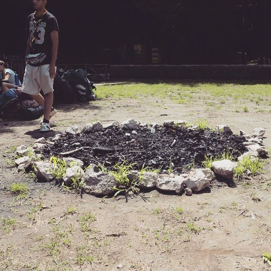 Fireplace Stones Wood Memories Routenazionale Agesci Scout Parcodelpartenio Avellino