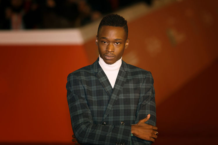 """Rome, Italy - October 13, 2016. Red Carpet of the film """"Moonlight"""" with actor Ashton Sanders. Academy Awards Actor Adult Adults Only Arts Culture And Entertainment Ashton Sanders Celebrities Day Famous People Film Men Moonlight One Man Only One Person Only Men Oscar Prize People Red Carpet Event Rome Film Festival"""