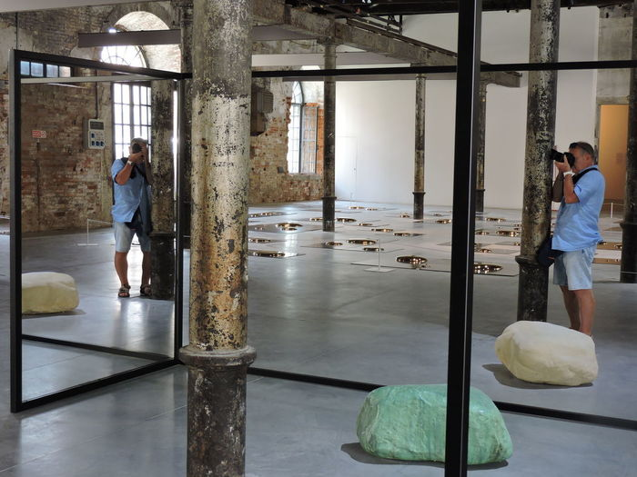 On reflection Exhibit La Biennale Di Venezia Nikon Coolpix P530 Adult Adults Only Architecture Day Eyem Best Shots Full Length Indoors  Lifestyles Men Occupation People Real People Standing Working