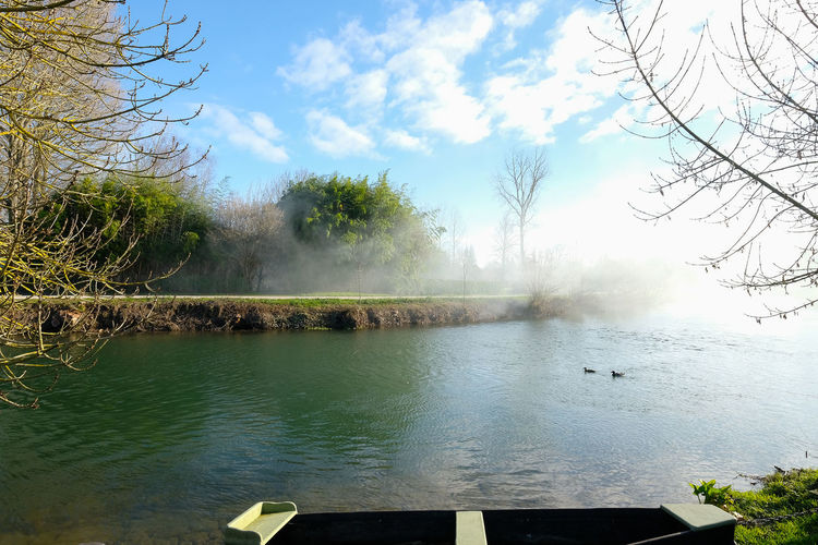 Tranquility Water Tree Sky Plant Beauty In Nature Scenics - Nature Tranquil Scene Nature Cloud - Sky Non-urban Scene No People Day Steam Idyllic Outdoors Heat - Temperature Hot Spring Power In Nature