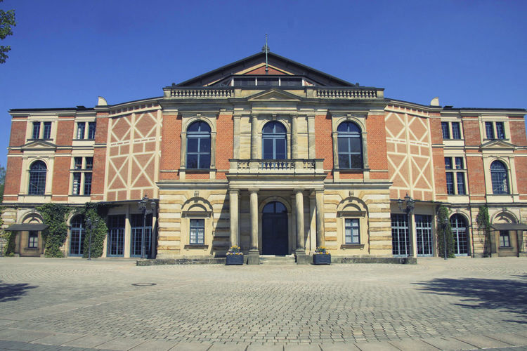 Bayreuth Architecture Building Exterior Built Structure Building Sky Clear Sky Window Façade History The Past Nature No People Blue Arch Outdoors City Residential District Day Street Entrance Row House