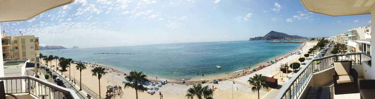 SPAIN Beach Ocean Summer Hot Day Panorama