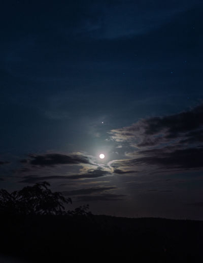 Low angle view of moon at night