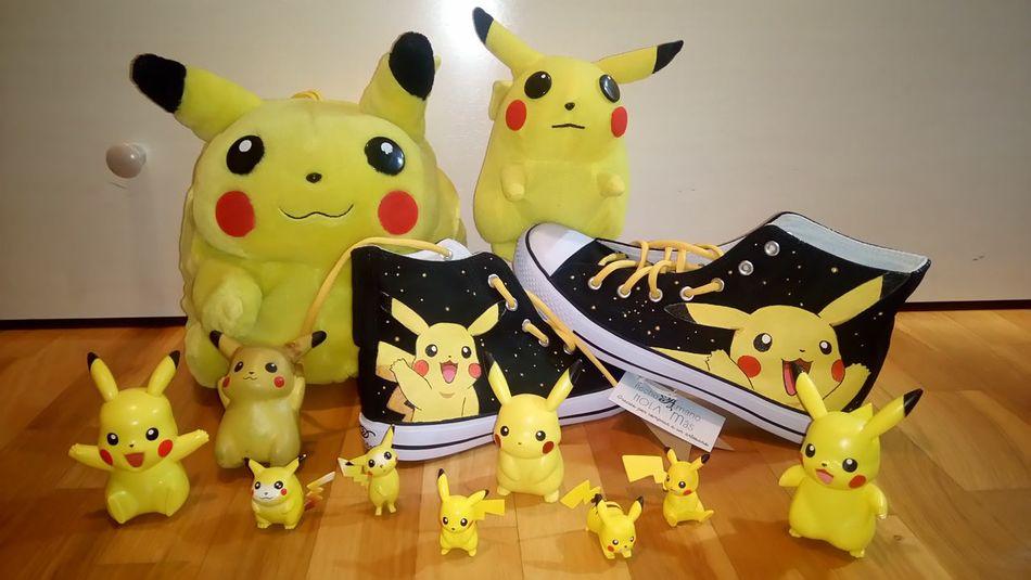 Pika, pikapiiii Pikachus Pokémon Peluche Peluches Plush Toy Toys Figuras Pikachu Bamba Bambas Handmade Arte Hecho A Mano