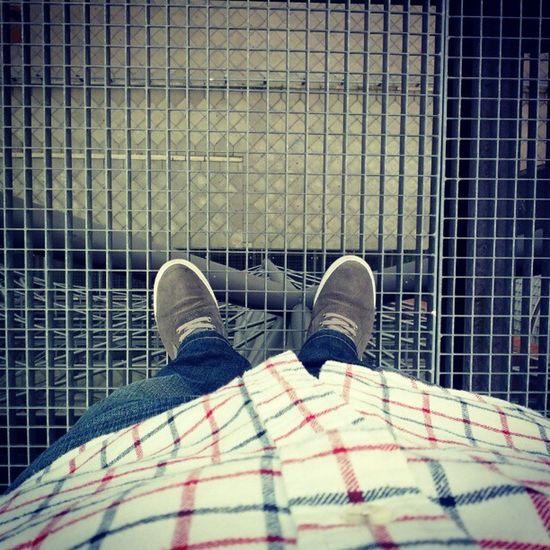 five floors under my feet Berlin Deutschland Germany Technikmuseum not afraid