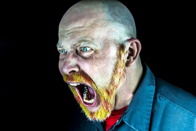 Scream Beard Dyed Hair Yellow Red New Hair Color :) Man Beardlife Picturing Individuality