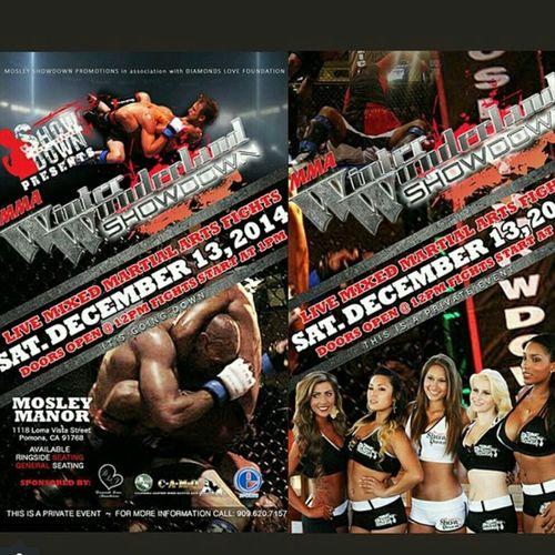 Join me at Boxer Sugar Shane Mosley house for MMA Fights in Pomona