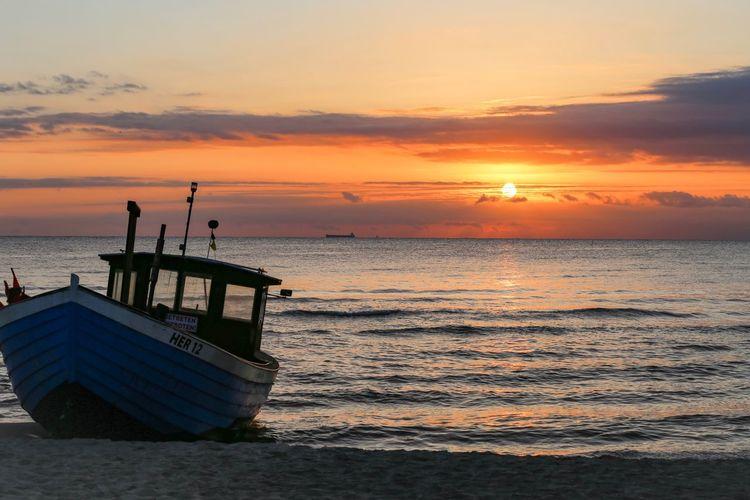 Sunset Sky Water Sea Beauty In Nature Orange Color Beach Cloud - Sky Nature Idyllic Horizon Over Water Outdoors