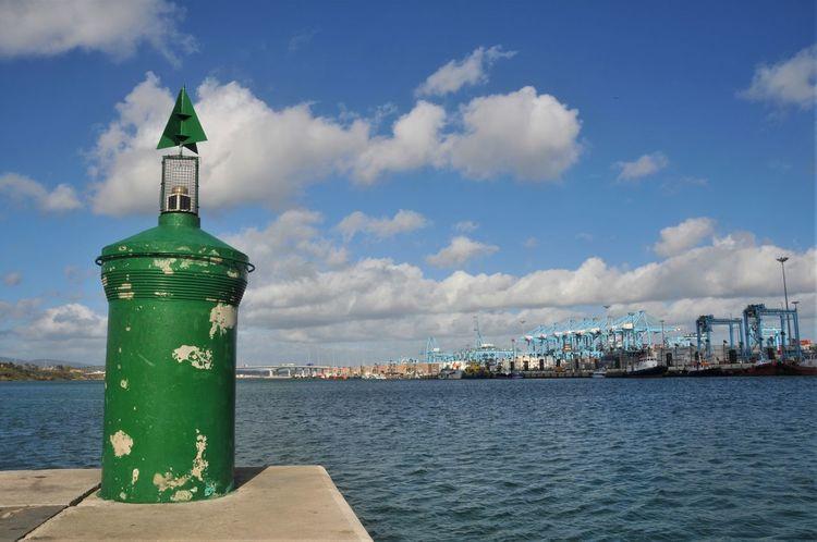 Algeciras Green Color Harbor City Cloud - Sky Containerterminal Day Es España No People Sea Sea Mark Water