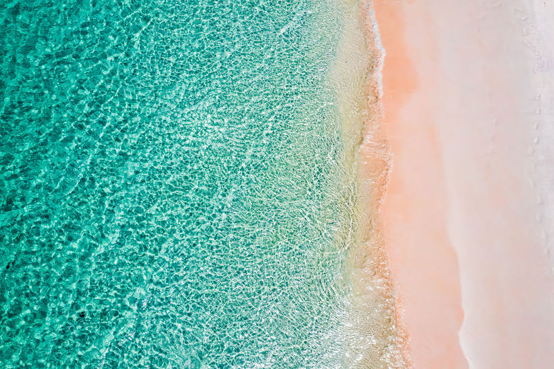 Aerial View of the beach in Boulder Island, Myanmar Beach Nature Landscape Green Holiday Blue Travel Day Tourists Outdoors Sand Land Myanmar ASIA Top View Asian  Beauty In Nature Summer ☀ Indian Ocean Andaman Droneshot Turquoise Colored Areal View Boulder Island Nga Khin Nyo Island