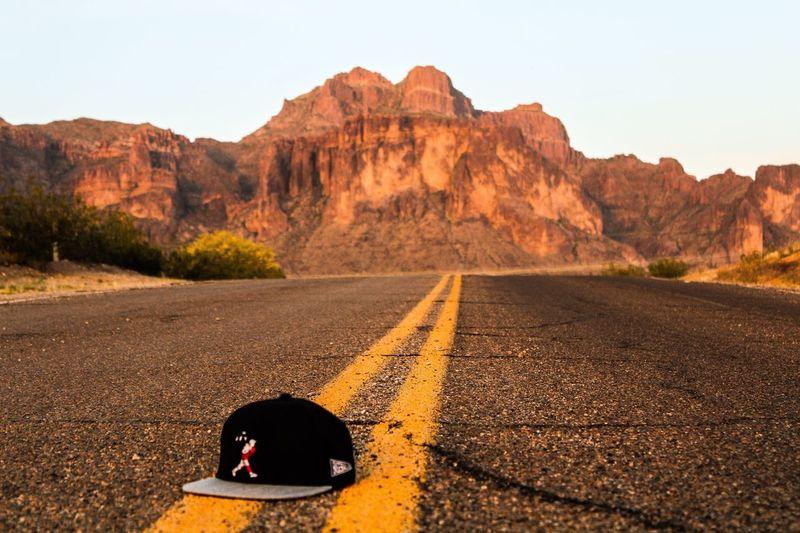 Baseball season is underway Mountain Road Desert Landscape Nature Outdoors Baseballism Flagman