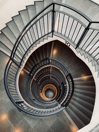The Week on EyeEm ShotOnIphone Steps And Staircases Spiral Staircase Spiral Staircase Railing Architecture Built Structure Pattern No People Design Metal Circle Day Geometric Shape