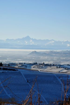 Langhe Landscape Travel Destinations Hills Mountains And Snow Snowed Snowy Landscape Snowed Landscape Snowscape Frozen Landscape  Outdoors Blue Day Beauty In Nature Nature Scenics No People Tranquility Sky Mountain Clear Sky Cold Temperature