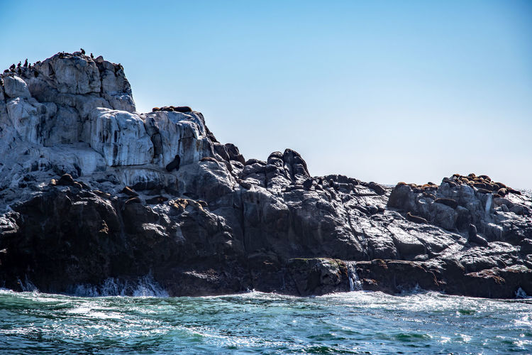 rocky coast in