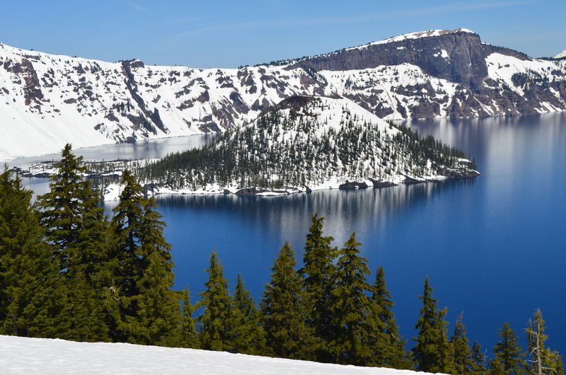 Crater Lake Nat'l Park Crater Lake National Park Beauty In Nature Blue Clear Sky Cold Temperature Day Glacier Iceberg Mountain Nature No People Outdoors Scenics Sky Snow Snowcapped Mountain Tranquil Scene Tranquility Tree Water Waterfall Winter