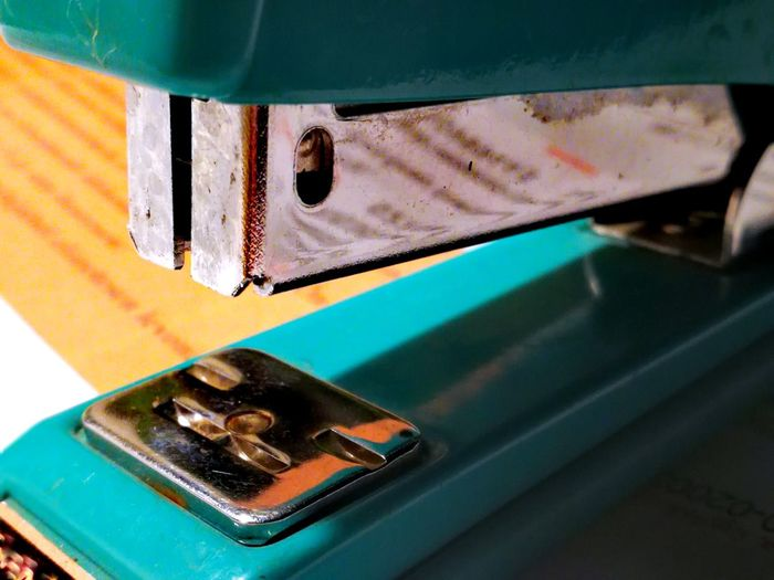 Close-up of stapler