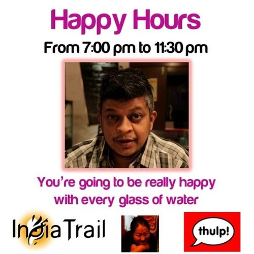Enjoy that glass of water with your Naga food. Last day today. IndiaTrail Cafethulp Aketoli NagaFood Bangalore