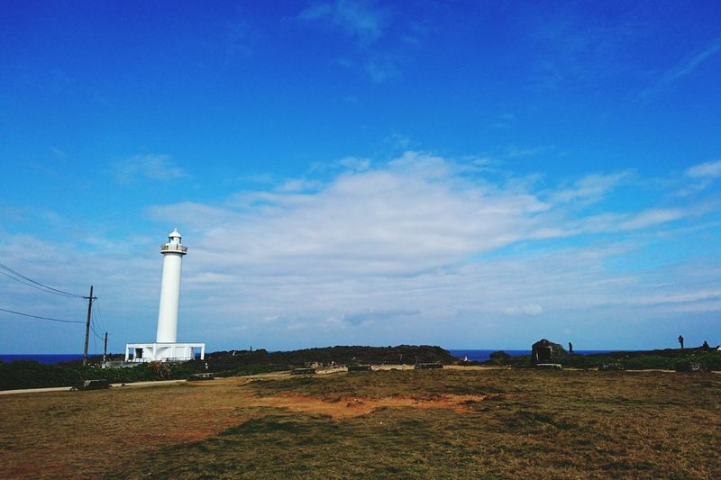 Lighthouse Blue Tower Building Exterior Outdoors Sky OKINAWA, JAPAN EyeEmNewHere