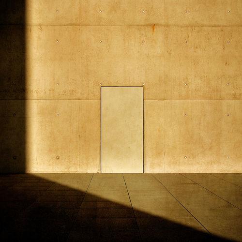 Empty tiled floor