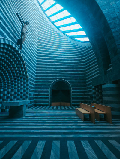Absence Arch Arched Architecture Blue Building Built Structure Ceiling Day Design Entrance Indoors  Lighting Equipment Metal No People Pattern San Giovanni Battista Staircase Steps And Staircases Window
