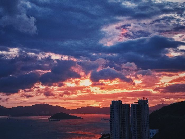Sunset Architecture Built Structure Beauty In Nature Tranquil Scene Dramatic Sky Romantic Sky Water
