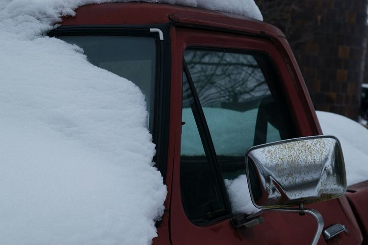Snow On Pick-Up Truck